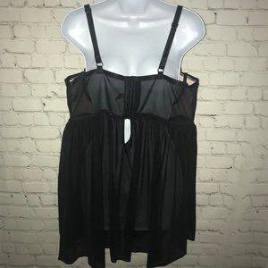 torrid Intimates & Sleepwear - *torrid*BLACK/LIGHT PINK LACY CHEMISE LINGERIE